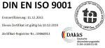 DIN EN ISO 9001 Zertifizierung Ben Buchele